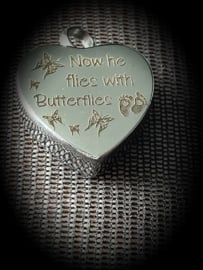 Pendant for ashes Baby-child-Butterfly