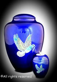 Urnen set met duif -Blauw