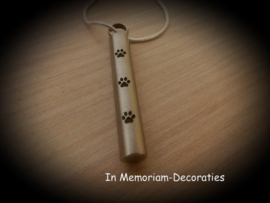 Cylindrical pendant for ashes pet