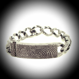 Edelstalen Armband met vingerafdruk
