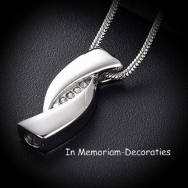 Cremation jewellery infinity symbol shaped