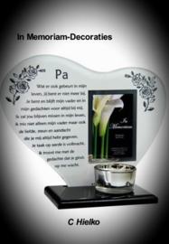 "In memoriam hart  met gedicht ""Pa"""