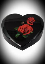 Hart urn met rozen