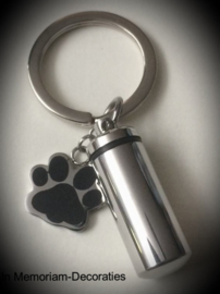 Paw pendant for ashes with keyring
