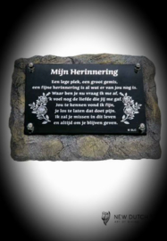 Mini Urn met gedenkplaatje