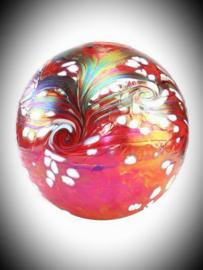 Glaskunst urn Red 4 liter