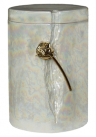 RUDRY ROSE PEARL CREMATION ASHES URN