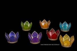 Lotus chakra tealight holders  set