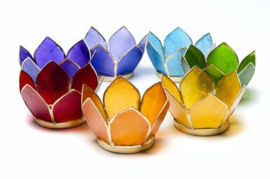 Lotusbloem set waxinehouders-zilver