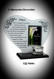 """In Memoriam hart met gedicht """"Mam"""""""