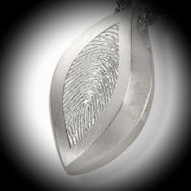 Assieraad Hanger ovaal met vingerafdruk