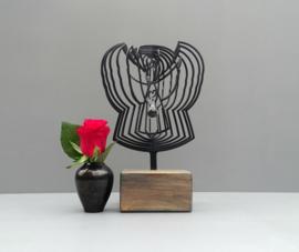 Urntje met 3D Engel