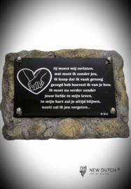 """Gedenksteen(urn) met gedenkplaatje """"Verlaten"""""""