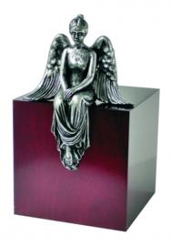 BEAMINSTER MEDITATING ANGEL TEAK CREMATION ASHES URN