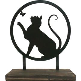 """Herinnering houder staand 28 cm """"Speelse kat"""""""