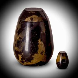 Marmeren urn zwart-bruin