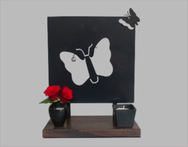 Memorial Holder with Butterflies