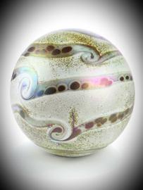 Bolvormige Glaskunst urn