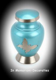 Teal Butterfly mini urn-keepsake