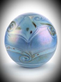 Glaskunst urn sea blue 4 liter