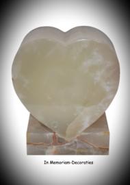 Marmeren hart urn