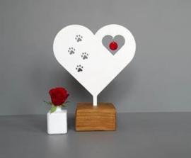 Mini urn hart met pootjes -kat