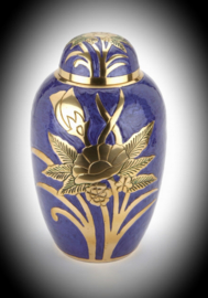 Brass urn with flower 3 colours