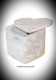Hart urn van natuursteen