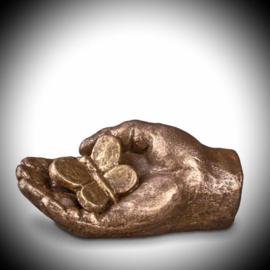 Keepsake hand with butterfly(bronze)