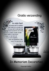 "Tealight holder with keepsake ""in my heart"""