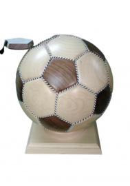 FOOTBALL WOODEN URN ADULT