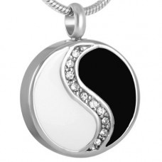 Pendant for cremation ashes Yin and Yang