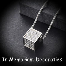 Cube jewellery for ashes