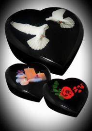 Hartvormige urn keuze uit 3 designs