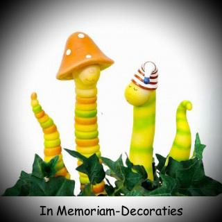 Tuinstekers grappige wormen