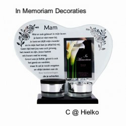 Keepsake heart with poem and photo spot