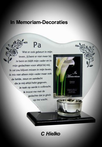 """Candlelight holder with poem """"Dad"""""""