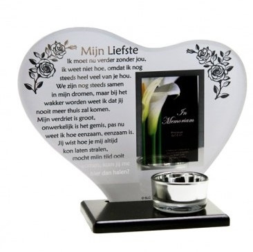 """Candle light holder""""my dearest"""" with photoframe"""