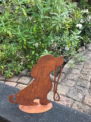 Gedenkhouder Hond -Roest