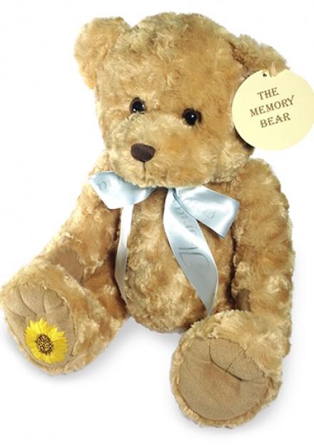 Teddybeer keepsake met lint en tekst