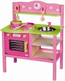 Houten keukentje pink