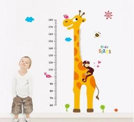 Groeimeter Giraffe aapje - A9092