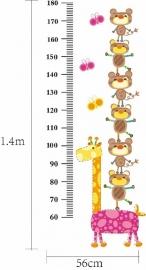 Groeimeter Giraffe en beertjes - A862