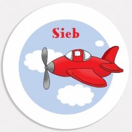 Eetbordje Vliegtuig met naam
