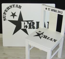 Tafel en stoeltje(s) SuperStar