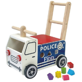 Loopwagen politiewagen met naam