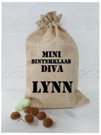 Pepernotenzakje met naam - Mini Sinterklaas Diva
