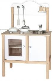 Houten keukentje wit