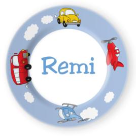 Eetbordje voertuigen met naam