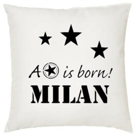 Geboortekussen met naam A Star is Born 2 jongen meisje